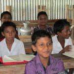 Schüler in Bajitpur
